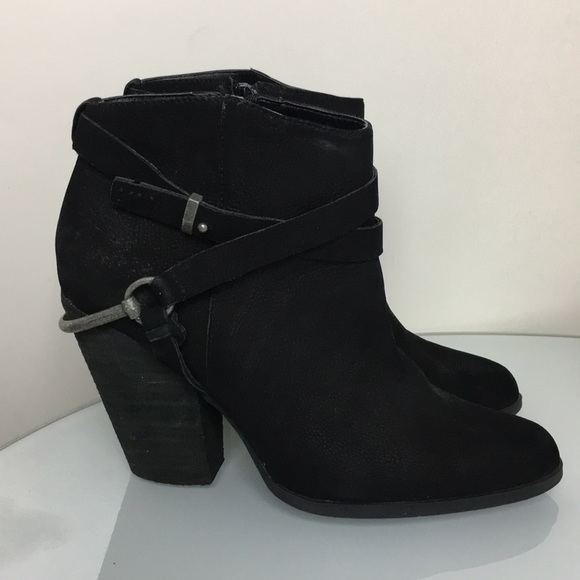 Very Volatile Shoes - Very Volatile Los Angeles Black Leather Booties 10